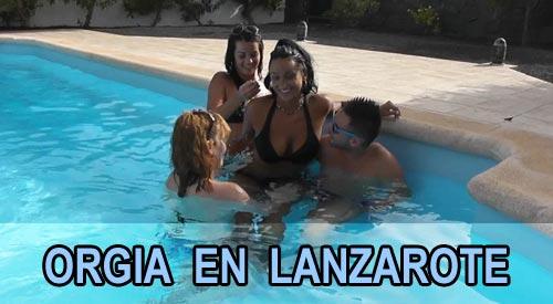 Jazmina y Delia montan una orgia familiar en Lanzarote